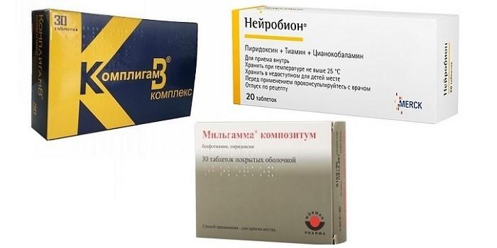 Таблетки Комплигам, Нейробион и Мильгамма