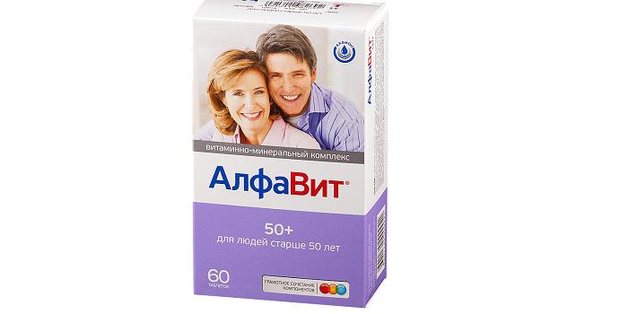 Витамины Алфавит для людей старше 50 лет