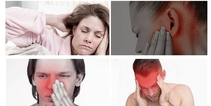 Боль в ухе, голове и голове