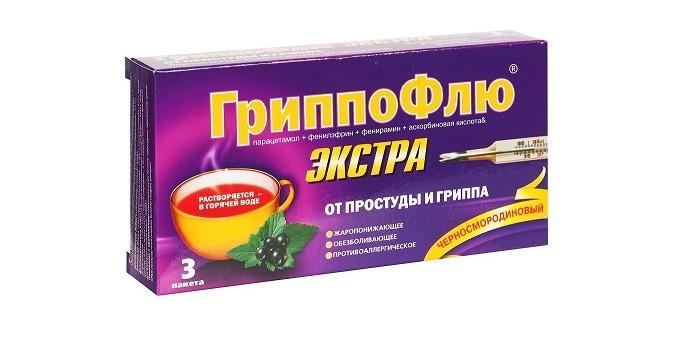 Препарат Гриппофлю экстра