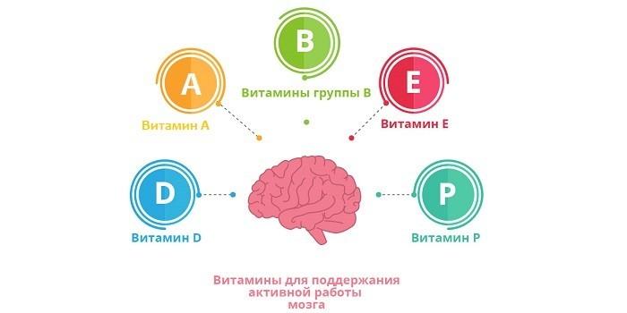 Витамины для активной работы мозга