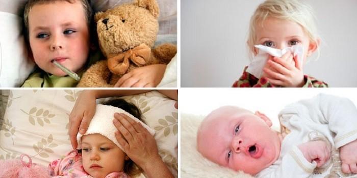 Насморк, температура, головная боль и дыхание ртом у ребенка