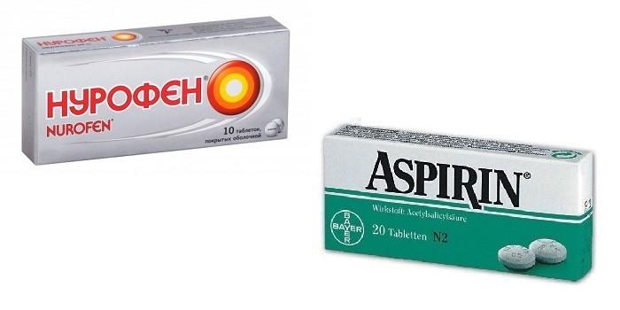Препараты Нурофен и Аспирин