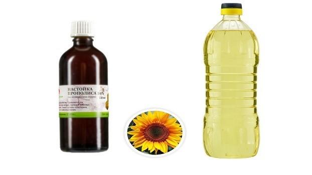 Настойка прополиса и растительное масло