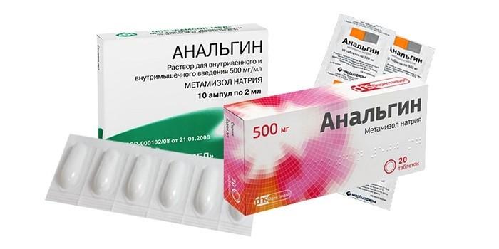 Разные формы выпуска препарата Анальгин