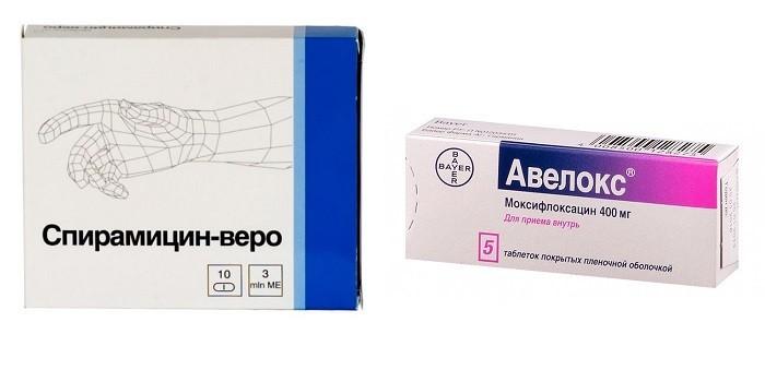 Препараты Спирамицин-веро и Авелокс
