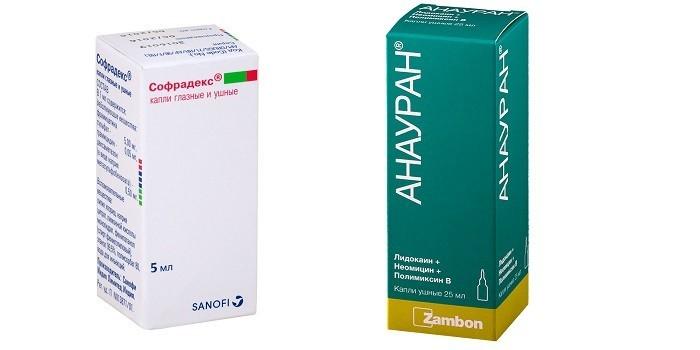 Антибиотики Софрадекс и Анауран