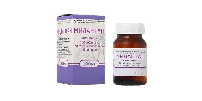 Таблетки Мидантан
