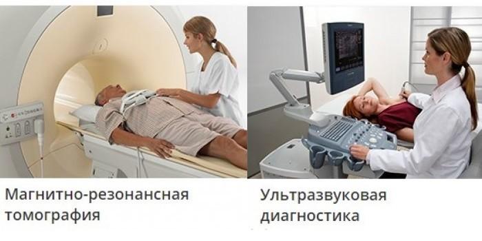 Пациенты на МРТ и УЗИ-диагностике