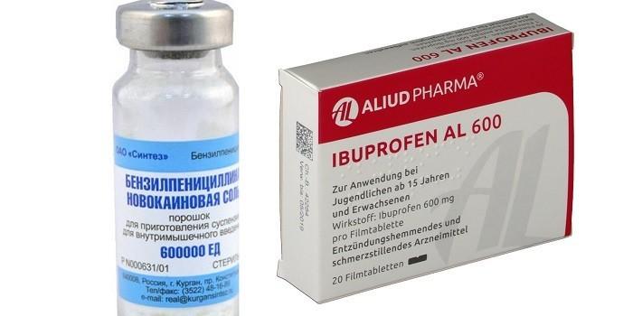 Препараты Бензилпенициллин и Ибупрофен