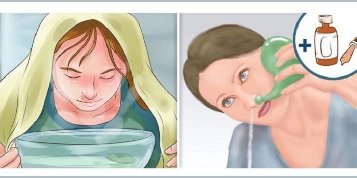 Паровая ингаляция и промывание носа