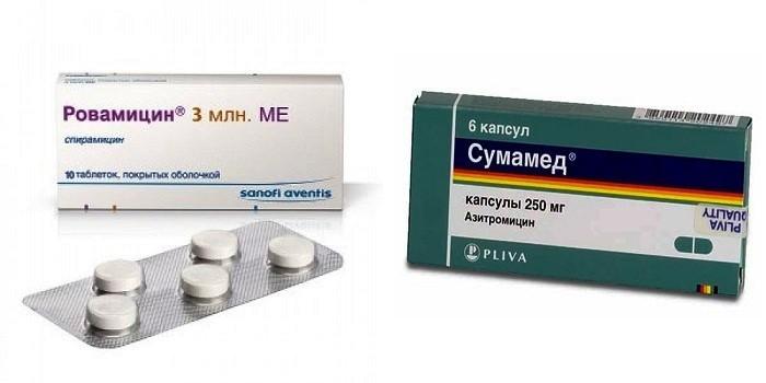 Антибиотики Ровамицин и Сумамед