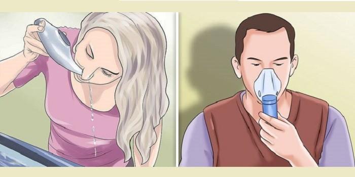Промывание носа и ингаляция небулайзером