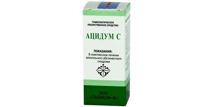 Гомеопатические Ацидум-С