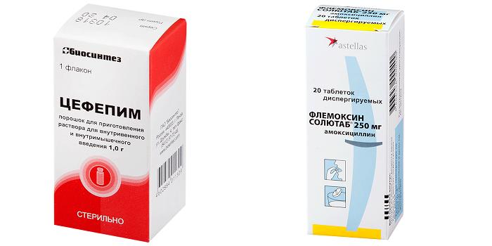 Антибиотики Цефепим и Флемоксин