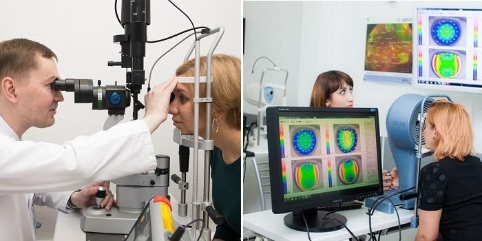 Проведение офтальмоскопии и проверка цветовосприятия