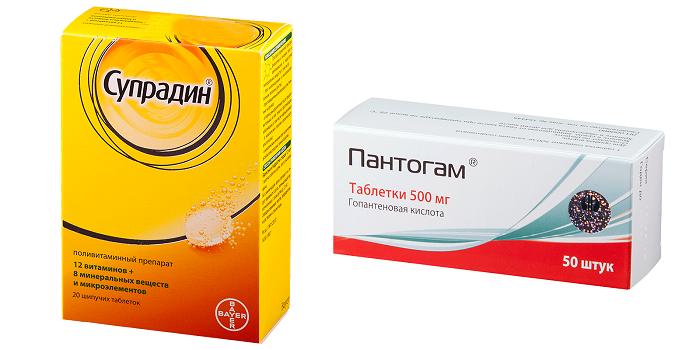 Препараты Супрадин и Пантогам