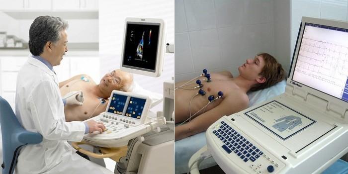 Пациенты проходят ЭКГ и УЗИ-сердца