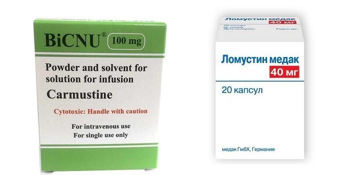 Препараты химиотерапии Кармустин и Ломустин