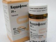 Кордафлекс – инструкция по применению, дозировка, действующее вещество, противопоказания и отзывы