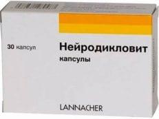Нейродикловит – инструкция по применению, как принимать и дозировка, форма выпуска и противопоказания