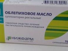 Облепиховое масло при геморрое: инструкция по применению
