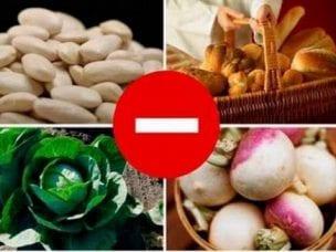 Продукты, вызывающие газообразование и вздутие живота у человека