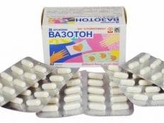 Вазотон – инструкция по применению, дозировка, противопоказания, побочные эффекты и аналоги