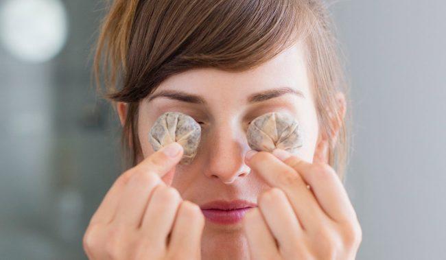 Чайные пакетики на глаза от отеков